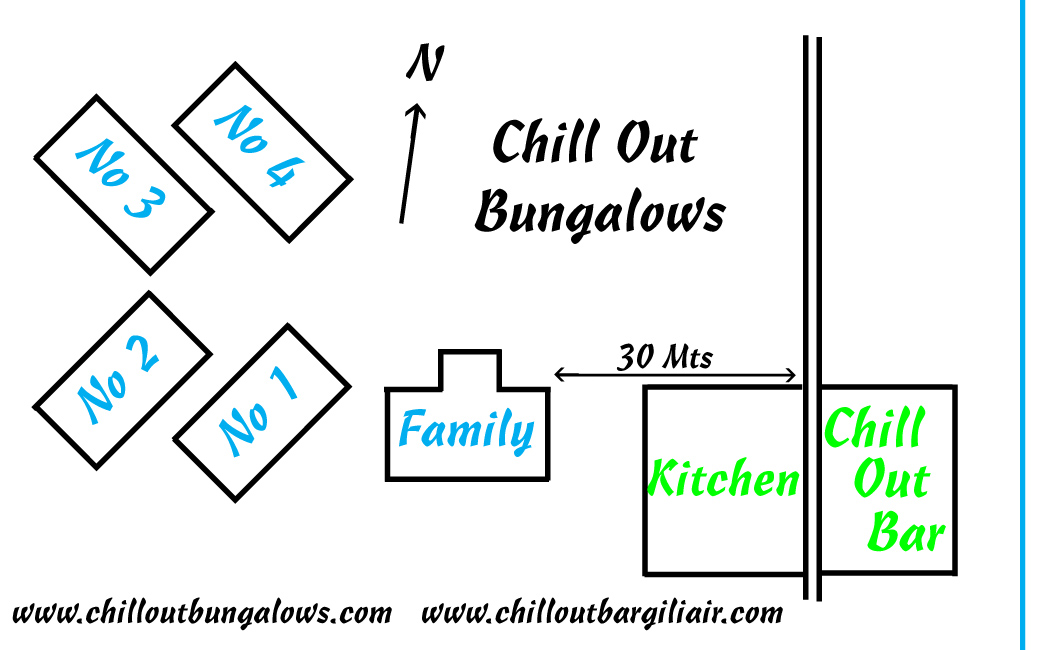 Chill Out Bungalows Location Map