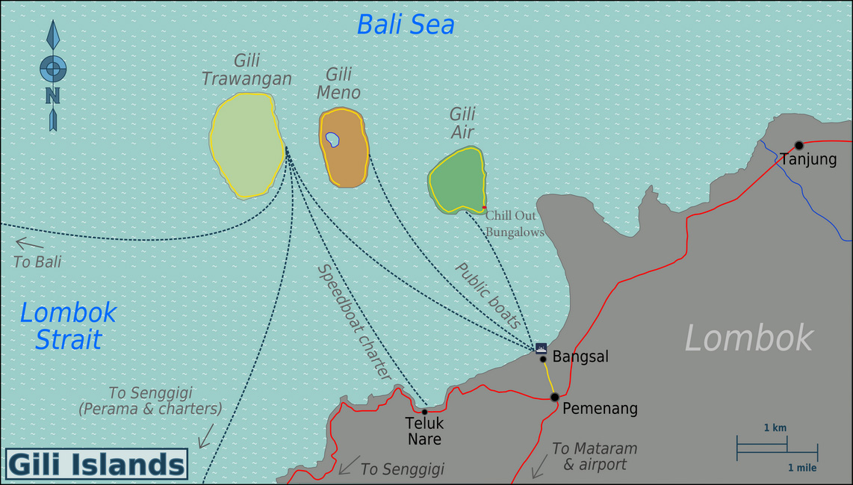 Gili Air Location Map