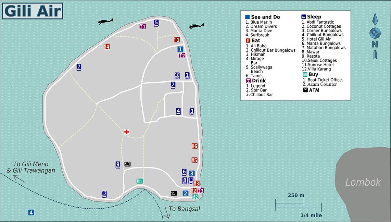 Map of Gili Air